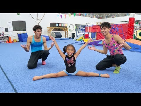 LEARNING GYMNASTICS WITH OUR FAVORITE GIRL