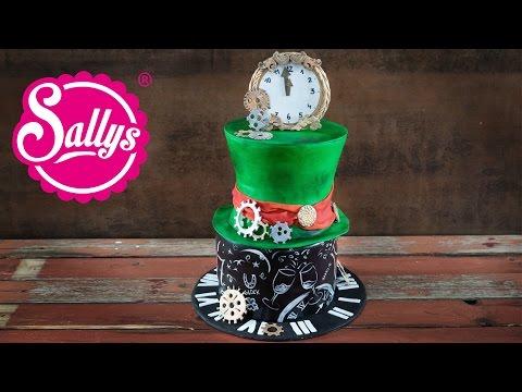 Silvester Torte / New Year's Eve Cake / Motivtorte Alice Im Wunderland / Sallys Welt