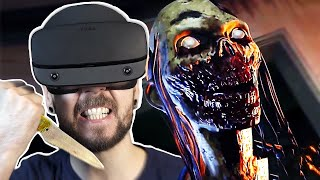Fighting Zombies in VR is TERRIFYING | The Walking Dead Saints and Sinners VR