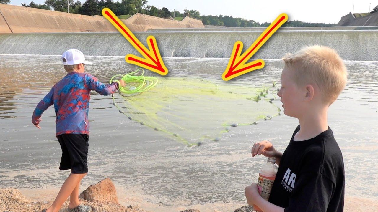 Cast Netting Spillway Monsters!