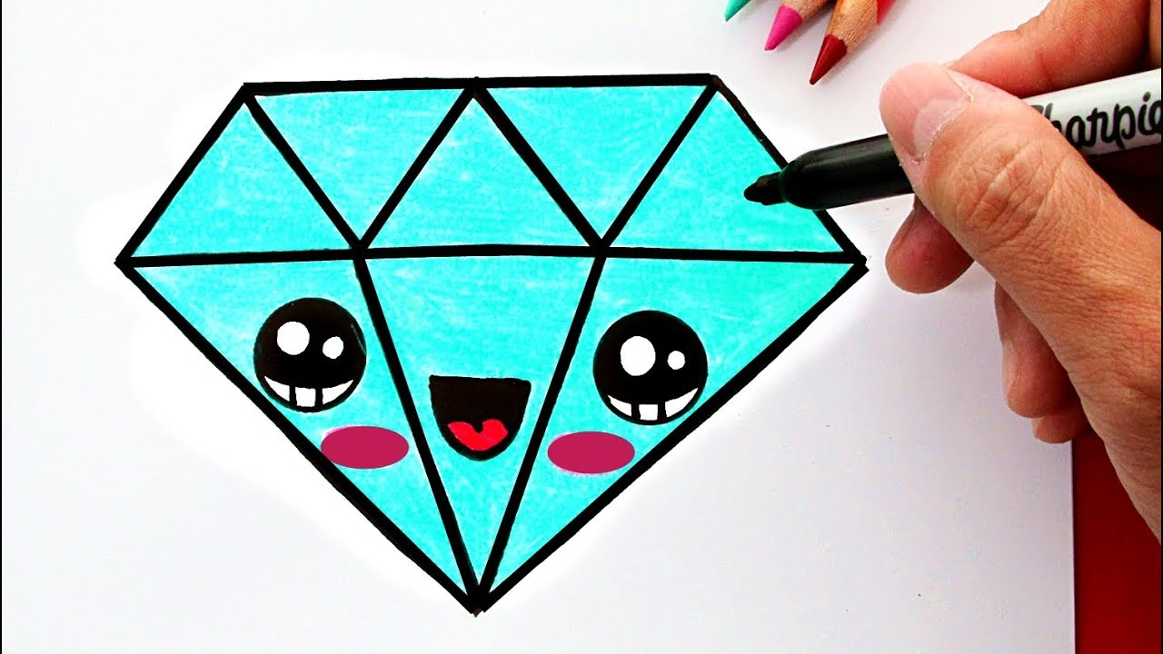 Cómo Dibujar Un Diamante Kawaii Youtube