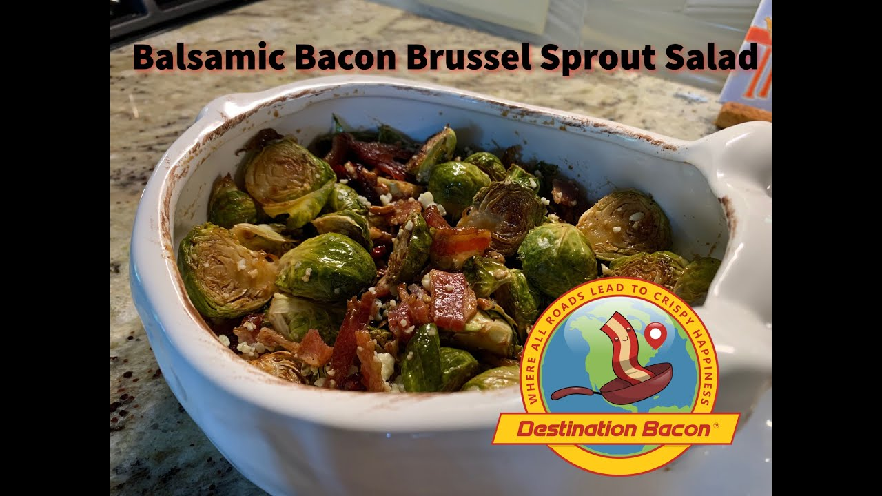 How to Make Balsamic Bacon Brussel Sprout Salad