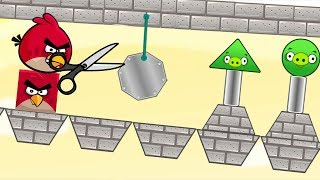 Angry Birds Pigs Out - STONE ROLLING TO THROW OUT TRIANGLE PIGGIES!
