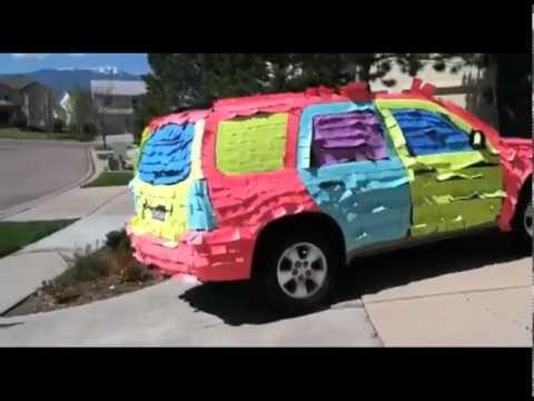 the best funny sticky note car prank youtube. Black Bedroom Furniture Sets. Home Design Ideas