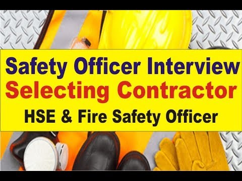 Safety Officer Interview | Safety Training Video | Job Interview