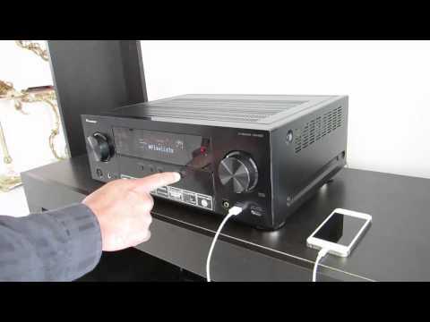 Receptor AV Pioneer VSX: Reproducir música del iPhone