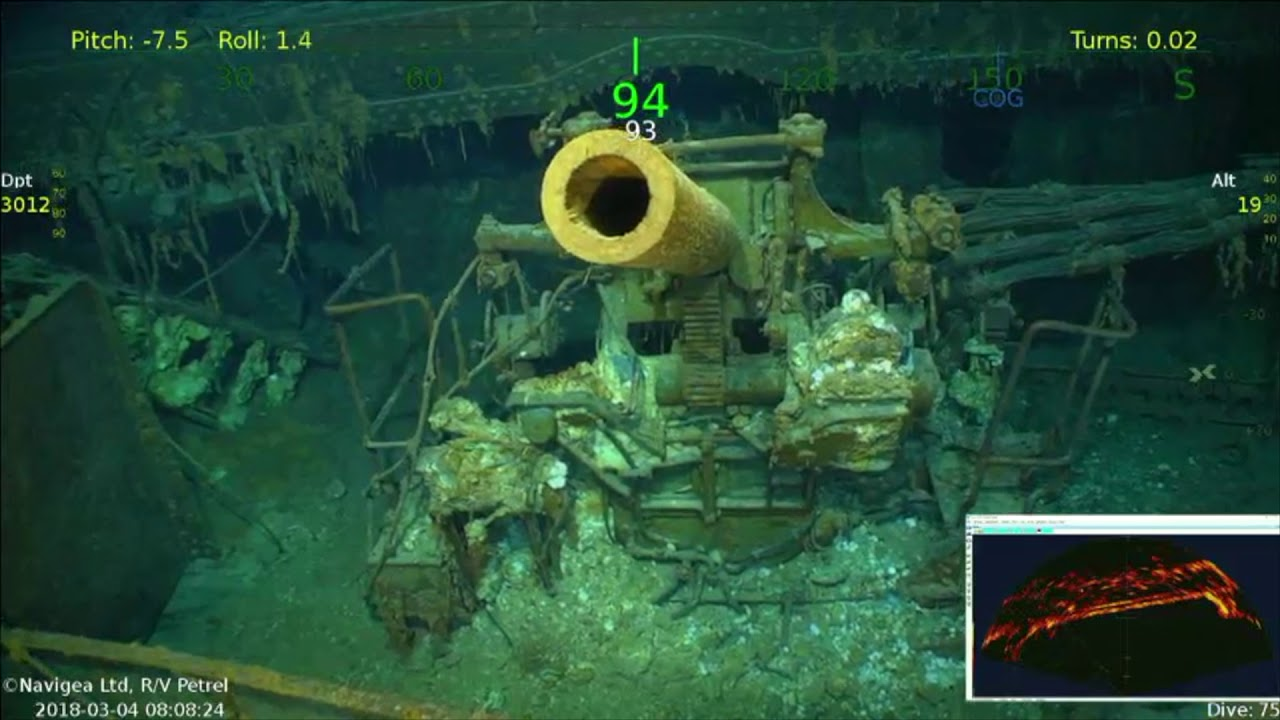 Dive Footage From USS Lexington Expedition by R/V Petrel