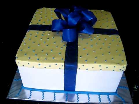 A Box Birthday Cake by Bamboo Bakery Phoenix Arizona YouTube