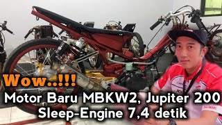 Wow ! Motor Baru MBKW2, Jupiter 200 Sleep-Engine 7,4 detik