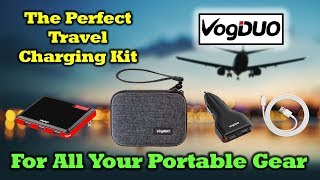 VogDuo Travel Charger Kit - Power For All Of Your Portable Gear
