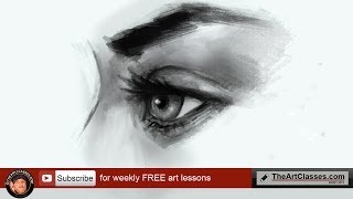 Learn to draw EYE SIDE VIEW