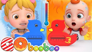 Hot and Cold At Home | Opposites Song | GoBooBoo Nursery Rhymes & Kids Songs