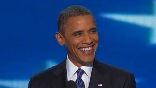 President Barack Obama DNC Speech Complete: Romney in