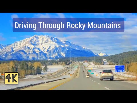 Driving through the Rocky Mountains 2021. Alberta Canada .4K #rockymountains #Canada #Alberta