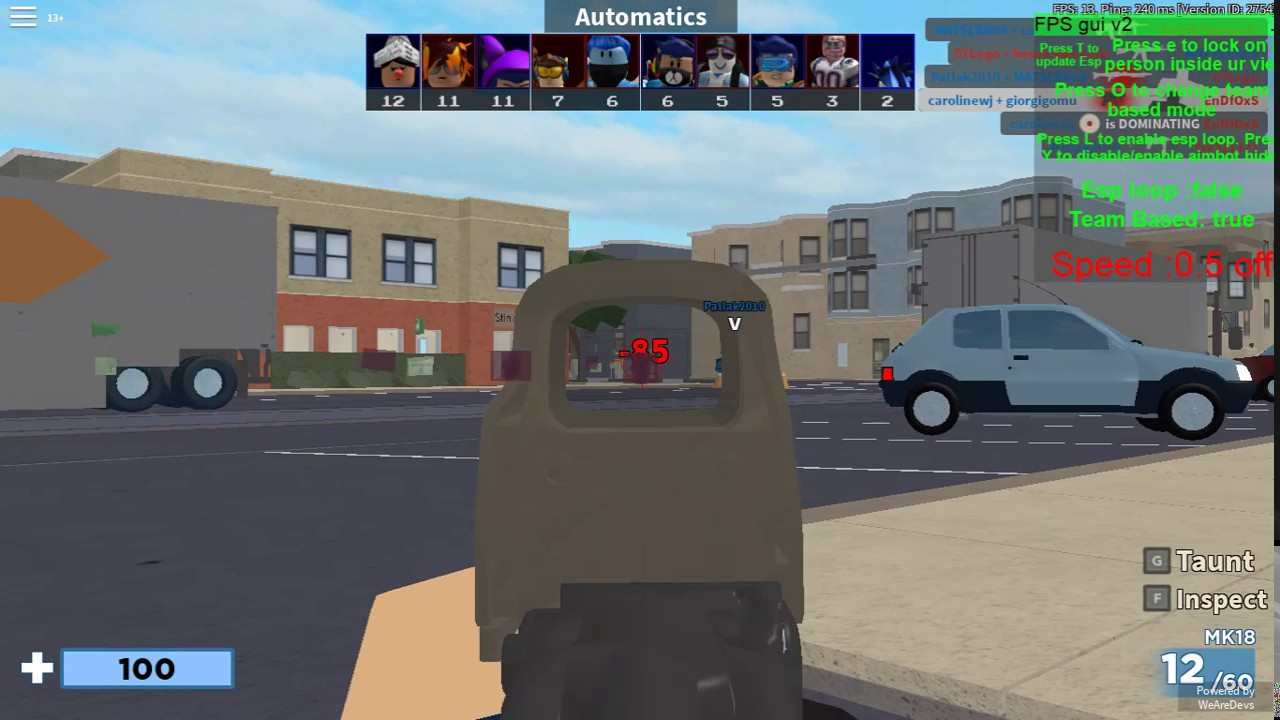 Roblox Arsenal Hack Credits Aimbot And Esp Free Working With