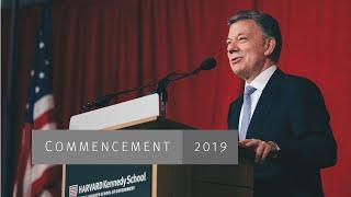 Juan Manuel Santos at Harvard Kennedy School Gradu