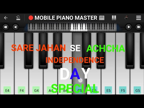 Sare Jahan Se Achcha Piano Tutorial   Easy   Mobile Piano Tutorial   Perfect piano tutorial