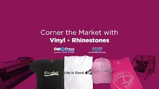 Corner the Market with Rhinestones and Vinyl   Live Online Webinar