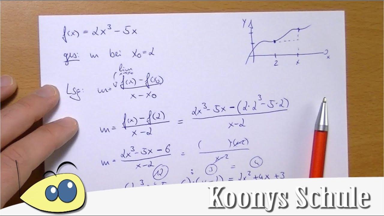 Mittlere Änderungsrate mit Polynomdivision | Beispiel ...