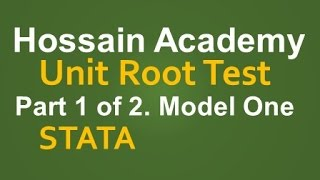 Unit Root Test. Model One. Part 1 of 2. STATA