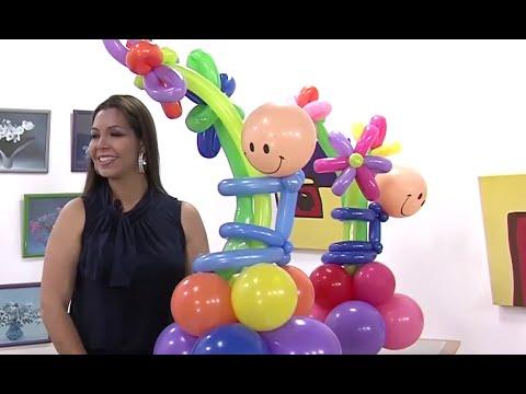 Globoflexia como hacer un muneco de globos con flores - Hacer munecos con globos ...