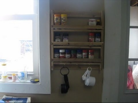Spice rack from scrap wood.