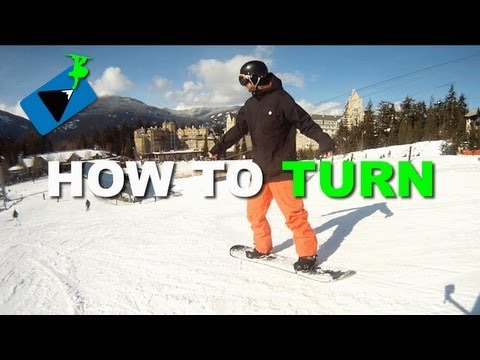 How to Turn on a Snowboard - How to Snowboard