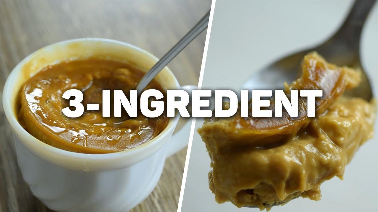 3 Ingredient Peanut Butter Mug Cake