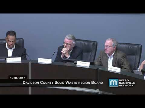 12/06/17 Davidson County Solid Waste Region Board