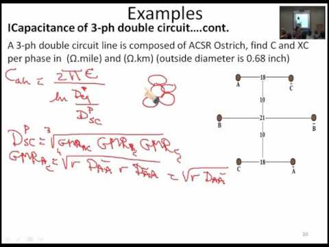 Lecture 13 : Capacitance of T.Ls: Double circuits; Examples / Dr. Mahmoud Ismail
