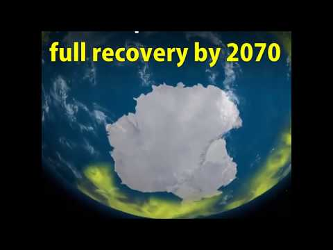 The ozone hole above Antarctica is recovering