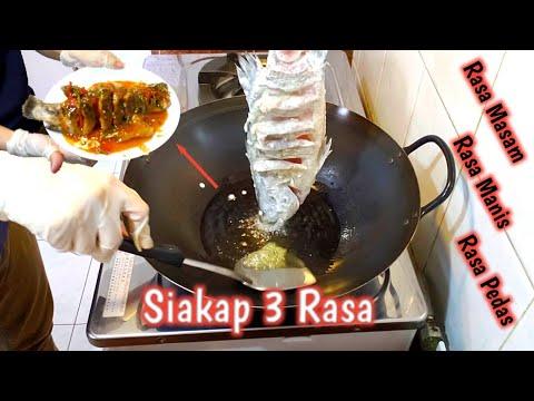 gampang-..!!-cara-memasak-ikan-siakap-3-rasa---mirip-restoran-thai-//-kedai-thai