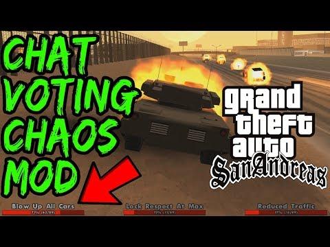 GTA San Andreas CHAOS MOD Speedrun CHAT VOTING!