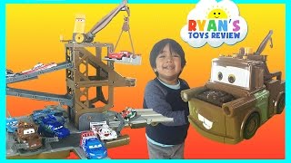 Disney Cars Toys Tow Mater Transforming Secret Base Takara Tomy Kids Video thumbnail