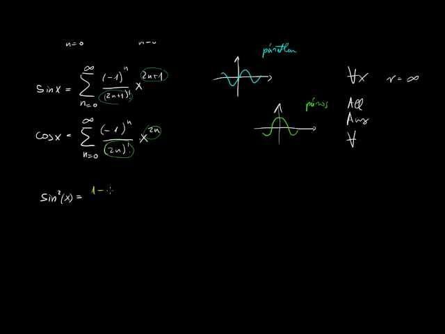 Nevezetes hatványsorok (e^x és trigonometrikus függvények)
