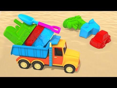 Мультики про машинки для малышей— Развивающая песочница для самых маленьких— Куличики иформочки