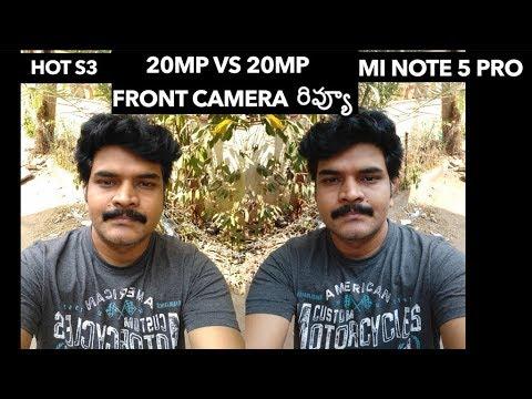 Redmi Note 5 Pro VS infinix Hot S3 Front Camera Review ll in telugu ll