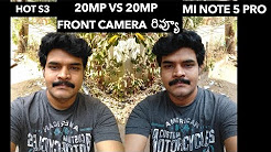 Redmi Note 5 Pro VS infinix Hot S3 Front Camera Review ll in telugu ll