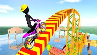 Bike Racing Games - Stickman Bike Stunts - Gameplay Android free games