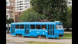 Поездка на трамвае Татра МТТА №3346 №27 м.Войковская м.Дмитровская