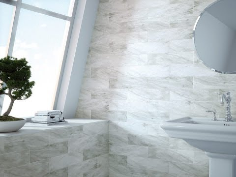 White Metro Tiles Grey Grout Bathroom