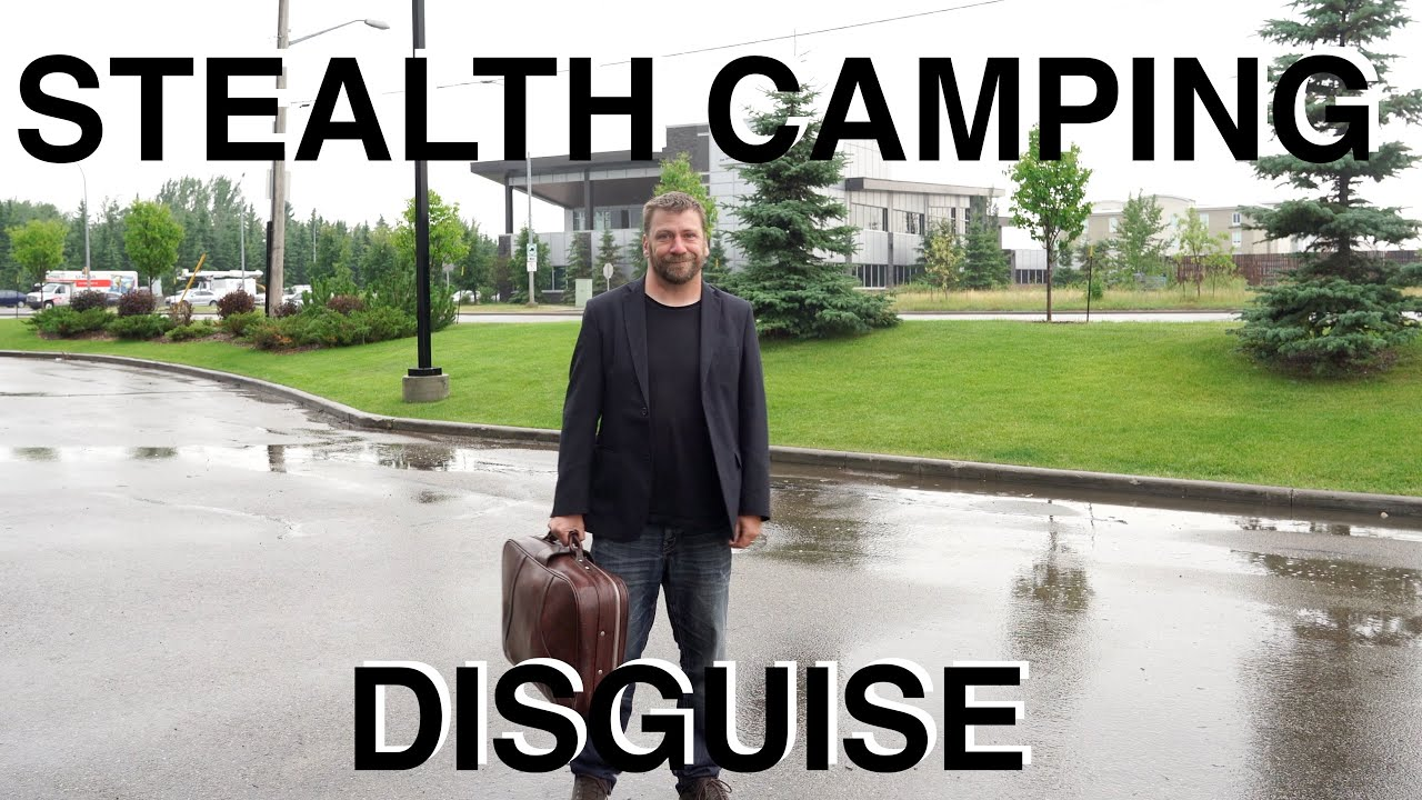Urban Stealth Camping Disguised As Businessman