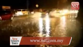 George Town hit by flash floods following downpour