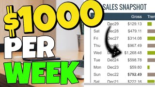 Earn $1,000 per week (best way to make money online 2020 - with proof)