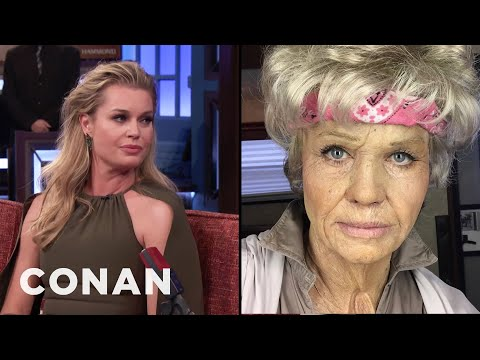 Rebecca Romijn Loved Being An Old Lady   CONAN on TBS