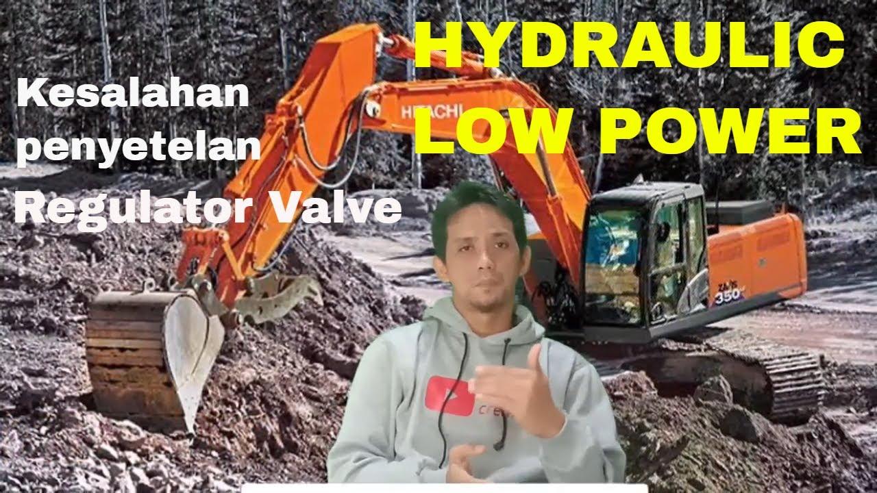 cara menyetel pompa hydraulic excavator hitachi zaxis 200 dan 350