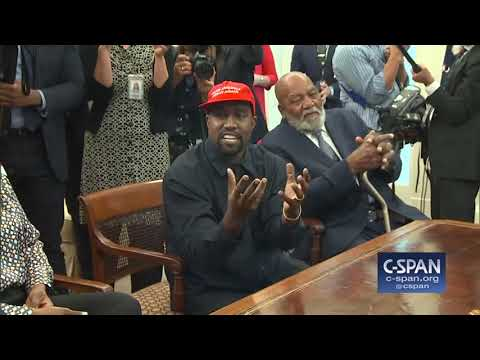 Kanye West in the Oval Office with President Trump (C-SPAN)