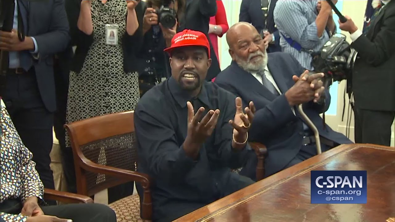 Kanye West In The Oval Office With President Trump C Span Youtube