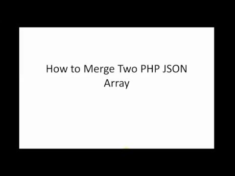 How to merge two PHP JSON Array