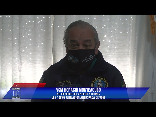 Horacio Monteagudo  Ley 12875 jubilación anticipada de VGM